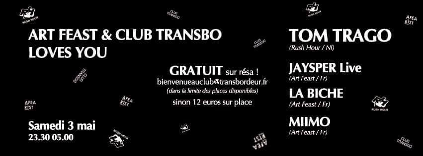 Art Feast & Club Transbo Loves You with Tom Trago